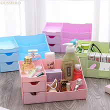 Drawer Type Cosmetics Desktop Storage Box Open Type High-capacity Plastic Sundries Container Dresser   Makeup Organizer