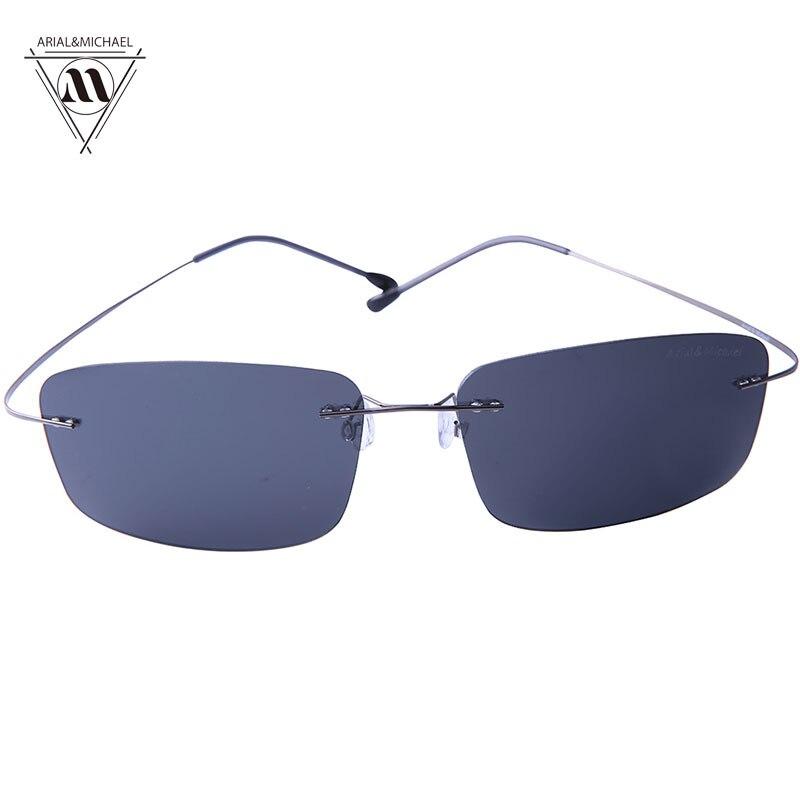 Arial&amp;Michael Cool Outdoor Rectangle Sunglasses men Anti-Glare HD Polarized Black Nylon Lens Titanium Bridge Sun glasses 8211<br><br>Aliexpress