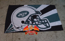 New York Jets Ice hockey Rugby flag,Jets football soccer club banner,90*150 CM polyster basterball flag(China)