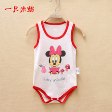 Cute Mickey Minnie baby rompers christmas style baby boys girls clothes summer newborn baby jumpsuit clothes set