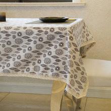 Latest High Quality Trees Leave Table Cloth Literary Artistic Linen Rectangular Tablecloths Lace Decoration Home Textile(China)