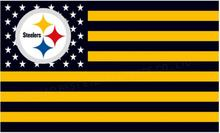 Nfl Pittsburgh Steelers flag 3 X 5 FT 150 X 90 CM 100D polyeste rbanner free shipping(China)