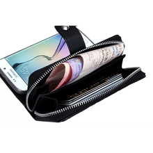 Textile Pattern Split Wallet Holster Cases For Samsung Galaxy S6 edge Money Credit Cards Cell Phones 3 in 1 Cover Case(China)