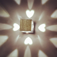 Feimefeiyou lamparas led Modern Brief Cube heart Light Mounted 3W LED Wall Lamp indoor decoration Aluminum Wall Lights AC85-265V