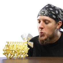 2017 DIY Puzzle Creature Wind Powered Strandbeest Assembly Model Toy Children Gift Science Education Birthday Present