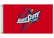 Iowa State Cyclones Flag 3ft x 5ft Polyester NCAA Banner  Flying Size  No.4 150* 90cm Custom flag
