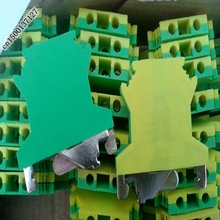 10PCS USLKG-3 UK series combined 2.5square green ground terminal rail type 2.5mm2 ground terminal