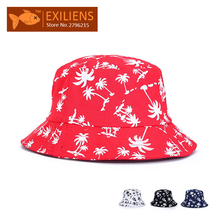 [EXILIENS] 2017 Fashion Brand Bucket Hats Cotton Casual Fisherman Caps Hip-hop Hats For Men Women Lovely Black Red Hat Hot Sale