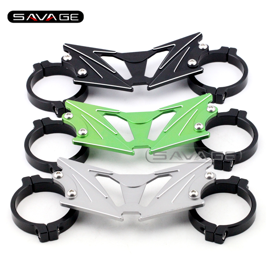 For KAWASAKI Z250 2013-2014, Z300 2015-2016 BALANCE SHOCK FRONT FORK BRACE Motorcycle Accessories CNC Aluminum 3 colors<br>