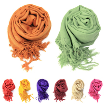 Plain Solid Womens Soft Neck Mountaineering Scarf Tippet Shawl Hijab Wrap Viscose Stole Gifts