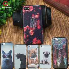 GerTong Phone Cover Case For Apple For iPhone 7 X 5S 5 SE 6 S 6S Plus Cat Dog Pattern TPU Silicon Coque Funda Coque Shell Case