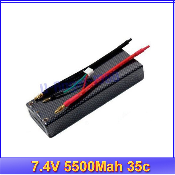 7.4V 5500Mah 35c 2S RC R/C Lipo Li-Po Battery AKKU 60C RC Helicopter+free shipping<br><br>Aliexpress
