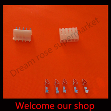 10sets CH3.96  5Pin car electric connectors crimp male female  socket  Kit pitch 3.96mm Pin Header+Terminal+Housing