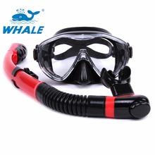 2017 Brand hot sale Water Sports diving mask snorkel Equipment Anti-Fog Silicone Scuba Diving Mask Snorkel set
