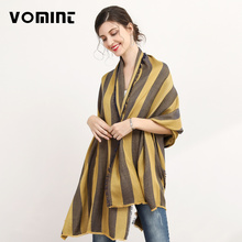 Vomint 190cm*100cm 2017 Fashion Stripe Scarf Women Autumn Scarves Soft Cape Scarf Ladies Wrap Brand Stoles L004(China)