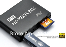 FREE SHIPPING MINI Full HD 1080P USB External HDD Media player With SD MMC card reader HOST OTG support MKV H.264 RMVB DVD MPEG