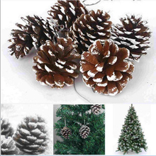 Wholesale Retail 9Pcs/lot Christmas Tree Ornament Hanging Balls Pine Cones Christmas Decoration For Home Navidad Decoration(China)