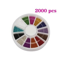 12 Colors Multifunction Steel Ball Bead Multicolor Nail Art Acrylic Tips Decoration Wheel Manicure 1mm Small Ball -27(China)