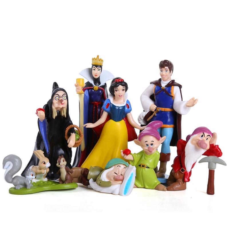 Princess Snow White and the Seven Dwarfs Queen Prince PVC Action Figures Toys Dolls 8pcs/set SEFG003<br><br>Aliexpress