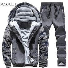 Thick Hoodies Hot Selling Full Real Chandal New Autumn\ Winter Comfort Single Men's Suit Pants Hoodies Set Plus Size D62(China)