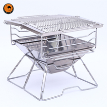 Light Weight High Strength Stainless Steel Family BBQ Charcoal Grill Outdoor Camping Portable Cooking Stove for Barbecue(China)