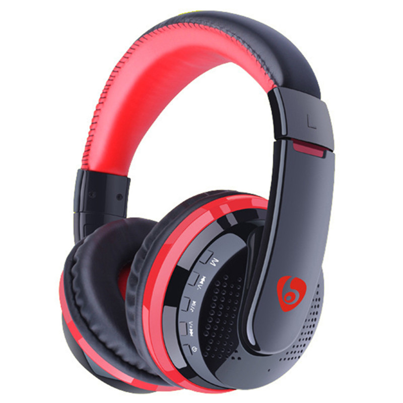 Bluetooth headset headband for stereo wireless headphones for a mobile phone computer Supports TF card + FM radio<br>