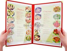 Advertising photo Album A4 2 pages PVC Recipe frame book Restaurant food shop menu frame file list picture albums(China)