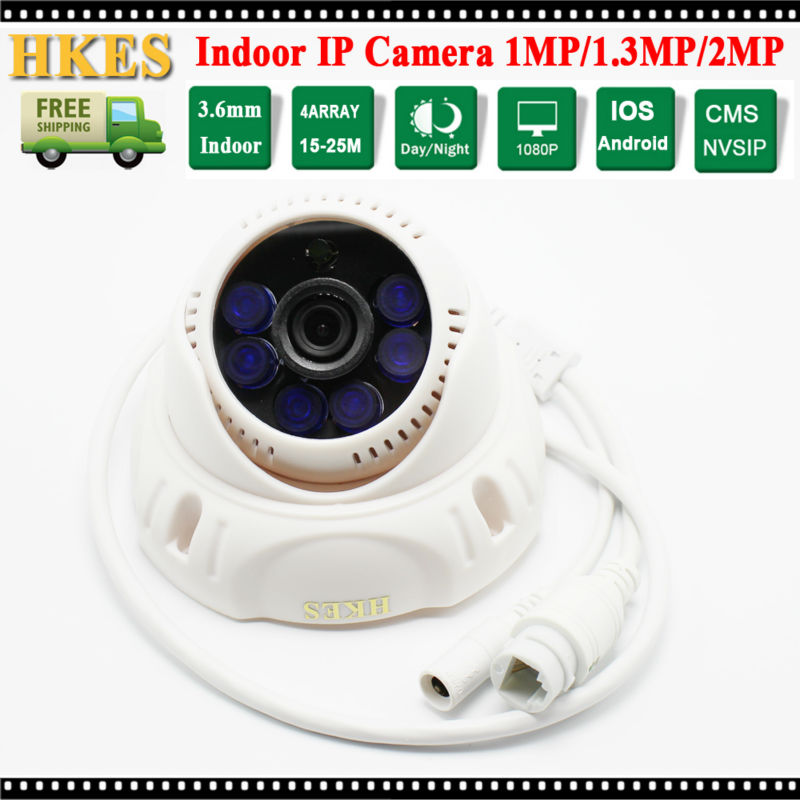 2016 Promotion HKES HD 1280*720P Indoor IR Night vision Dome IP Camera 1MP<br><br>Aliexpress