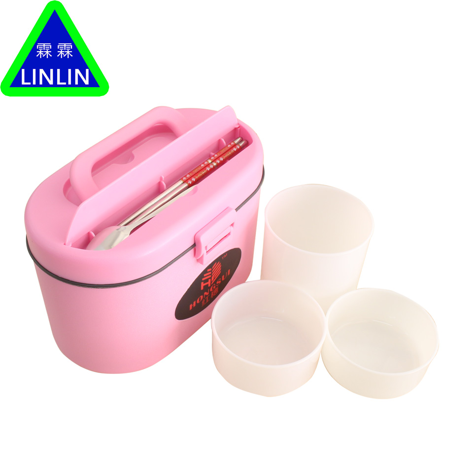 LINLIN massage Conveninet Ecofriendly Outdoor Portable Microwave Lunch Box with Soup Bowl Chopsticks Spoon Food Containers<br>