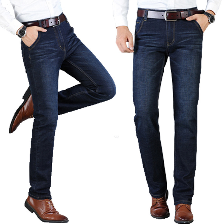 2018 autumn and winter new mid-rise jeans business men