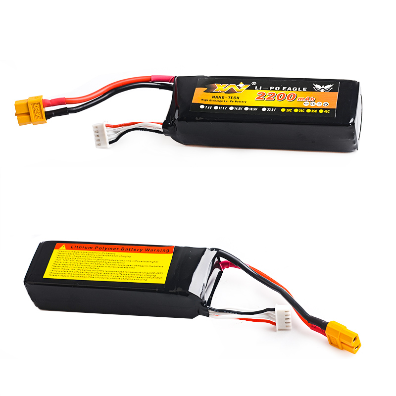 High Quality RC Drone Battery 14.8V 2200mAh 35C 4S RC LiPo Li-Poly Battery for Helicopters Quadcopter Multicopter RC drone kit<br>