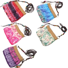 New Style 1Pc Women Exotic Boho Floral Straw Weave Strap Beach Messenger Bag Cloth Handbag