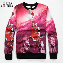 3D Print Michael Jordan Sweatshirt Men Long Sleeve Crewneck Harajuku Pullover Streetwear Hip Hop Dunk Jordan Hoodie Men/Women(China)