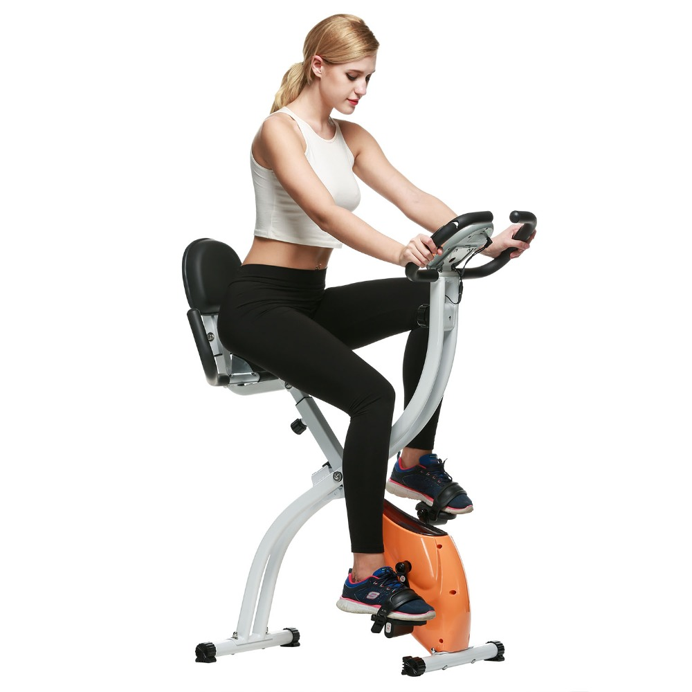 Brand Ancheer Folding Upright LCD Display Bicycle Health Fitness Indoor Pedal Exercise Bike Home Trainer Bike Bicicleta Estatica<br><br>Aliexpress