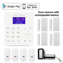 433mhz 2.4G Wireless gsm wifi alarm security system Android/IOS APP control Spanish/Dansk door sensor with rechargeable battery