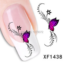 2pcs Hot Sale Fashion 3D Butterfly Design Nail Art Sticker Tip Decoration Easy DIY  yECcJ