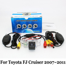For Toyota FJ Cruiser 2007~2011 (Spare Wheel On Door / RCA Wire Or Wireless HD Wide Lens Angle CCD Night Vision Rear View Camera(China)