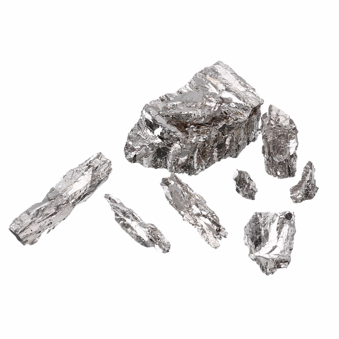 100g/Set 99.995% Pure Bismuth Ingot 9.8/g/cc Solid Metal Bi Particles Non-toxic Industry Catalysts for Manufacturing