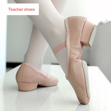 Buy Ballet Shoes Heels Adult Dance Women Girls Soft Leather Latin Dance Shoes Practice Teacher Teaching 5309 for $14.90 in AliExpress store