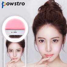 Selfie Portable Flash Led Camera Phone Photography Ring Light Enhancing Photography for iPhone Samsung Pink