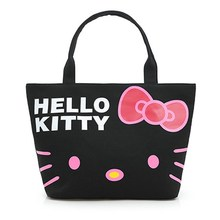 2017 Large Capacity Women Bag Hello Kitty Shopping Bags Ladies Shoulder Bags Females Shopper Canvas Bag Cute Cartoon Casual Tote