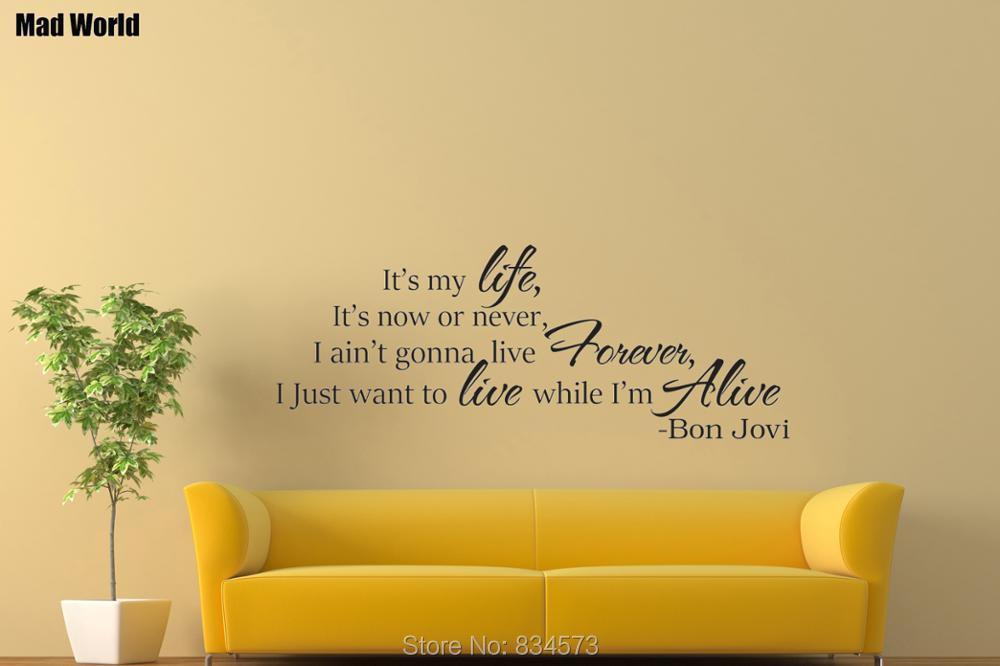 Bon Jovi Wall Art Sticker//Decal