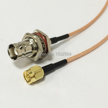 "New SMA Male Plug Connector Switch BNC Female Jack Convertor RG316 Wholesale Fast Ship 15CM 6"" Adapter(China)"