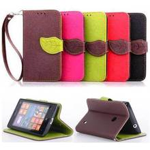 Fashion Leaf Wallet With Stand Flip PU Leather 4.0For Nokia Lumia 520 Case For Nokia Lumia 520 Cell Phone Case Cover
