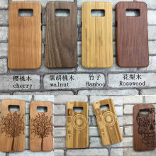 High Quality Wood Bamboo Case for Samsung Galaxy S8/S8 Plus Novelty Phone Case Cover for Samsung Galaxy S8 wooden Phone Cover(China)
