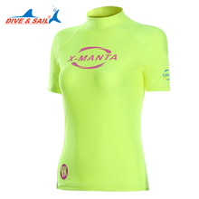 Dive&Sail rashguard for girls Top short sleeve UV Rash Guard Beach swimming rash guard shirts