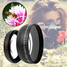High Definition 0.45x0.45 Super Wide Angle Lens with Macro Optical Lens Universal Telephoto Camera Lens Series(China)