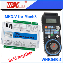 3 Axis mach3 MK3-V motion control card and wireless handwheel pendant WHB04B-4 sold together