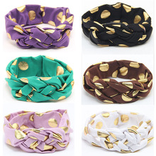 1pc cute Headband Dot Bow Headband Top Knot Headband Polka Dot Cross Knot Turban Tie Knot Headwrap Hair Accessories(China)