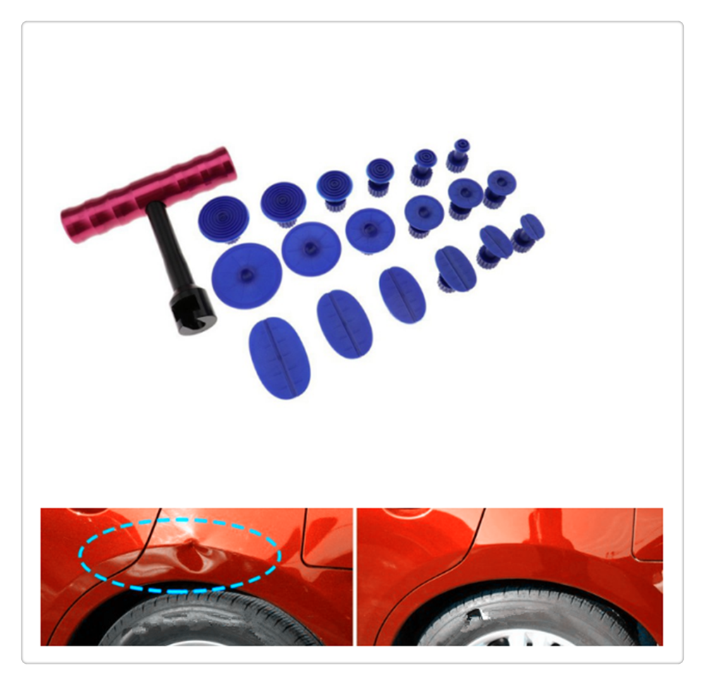 Car Hail Dent Repair Puller + Sheet Metal Plastic Suction Cup Kit for Ford SVT Reflex Freestar F150 Crown BF 4-Trac